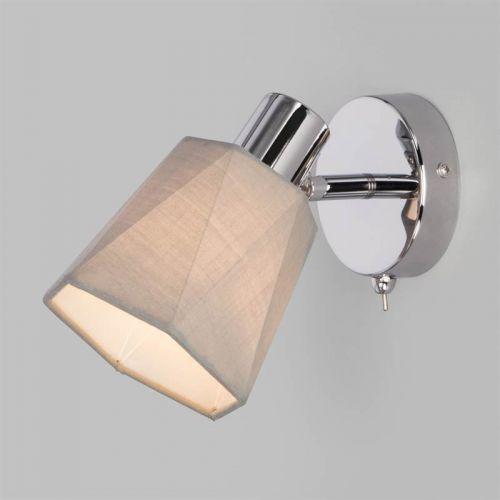 Настенный светильник с выключателем 20087/1 хром/серый, Eurosvet