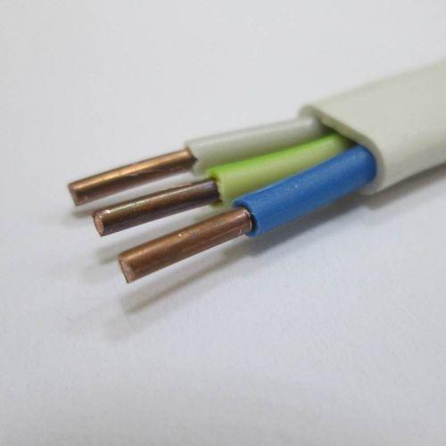 Кабель силовой ВВГ П 3х2,5 мм², белый, плоский, ГОСТ