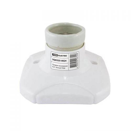 Патрон основание, E27, керамика, белый, арт. SQ0335 0024, TDM Electric