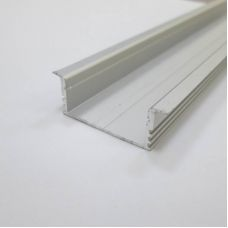 Профиль алюминиевый LC LPV 1234 2 для светодиодной ленты, широкий, встраиваемый, Ledcraft