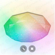 Светильник потолочный управляемый ALMAZ  60W RGB R 493 SHINY/WHITE 220 IP44