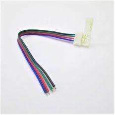 Коннектор для ленты RGB (ширина 10 мм) зажим провод 4 х конт. SMD5050 RGB Ecola