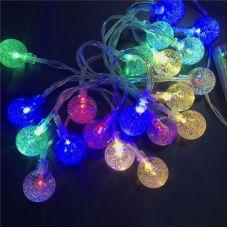 Гирлянда НИТЬ Шарики с пузырьками 3 см, длина 4 м, 40LED, RGB, контроллер
