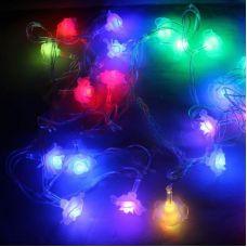 Гирлянда НИТЬ RGB Розочки LED, длина 4 м, маленькие