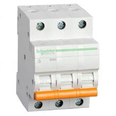 Автоматический выключатель 3P, C, 25 А, ВА63 Домовой, 4.5 кА, 11225, Schneider Electric