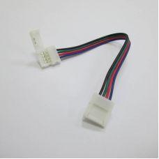 Коннектор для ленты RGB 5050 (ширина 10 мм) с проводом и разъемами с двух сторон