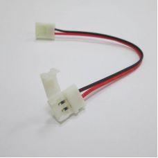 Коннектор для ленты 3528 (ширина 8 мм) с проводом и разъемами с двух сторон